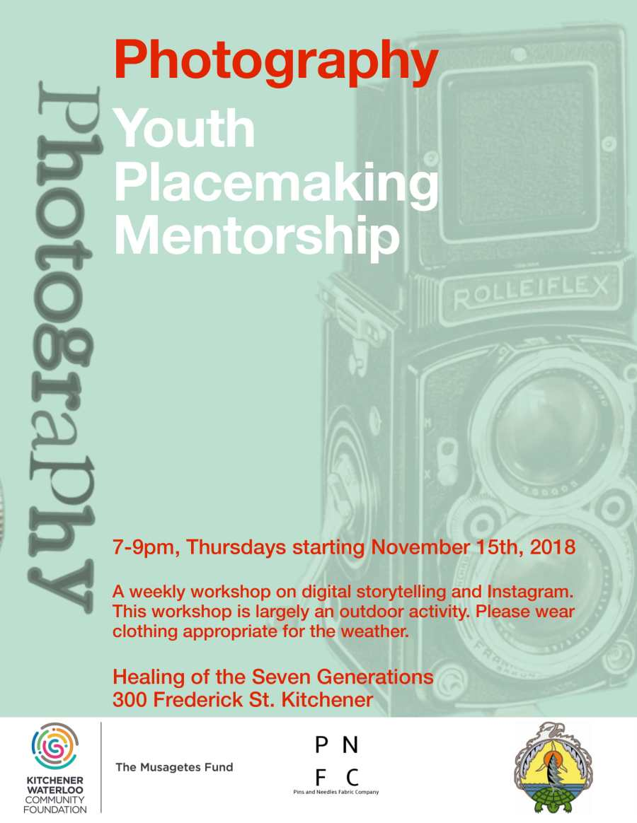 Youth Placemaking Mentorship: Photography Stream