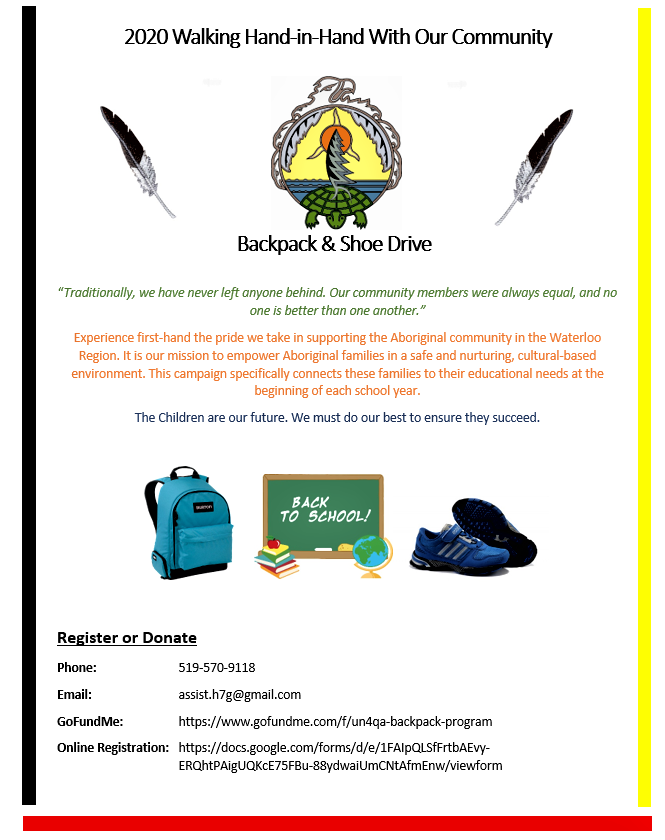 2020 Backpack Program Poster