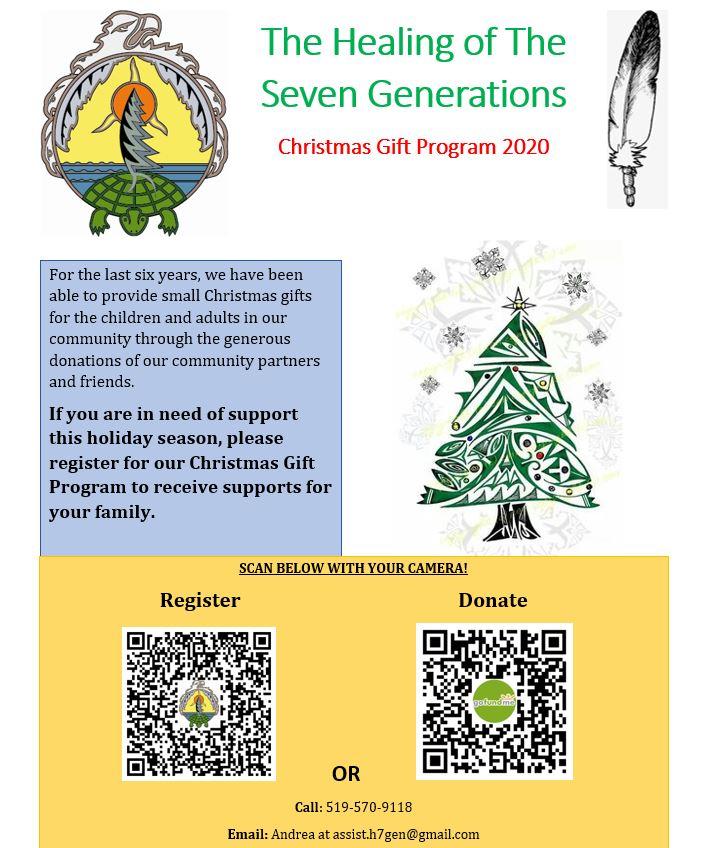 2020 Christmas Gift Program Flyer